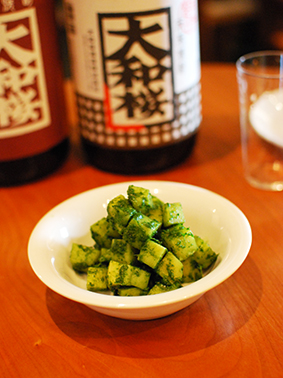 タケノコの香菜味噌和えできあがり